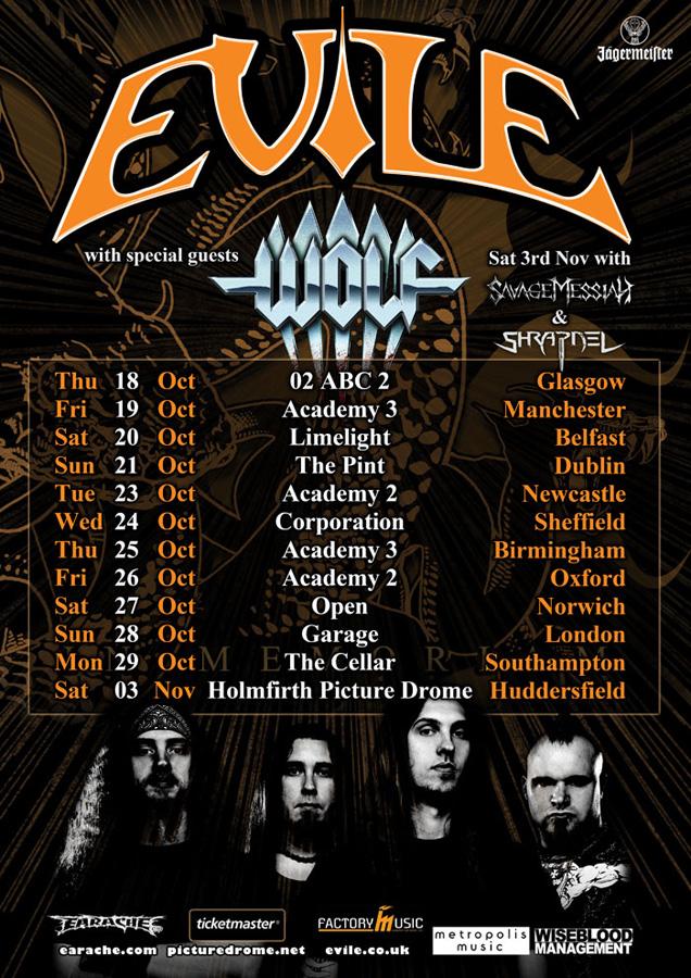 WOLF & EVILE TOUR